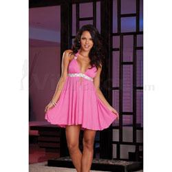 Dress & Thong Hot Pink