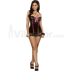 Chemise and G-string Sequin Lace